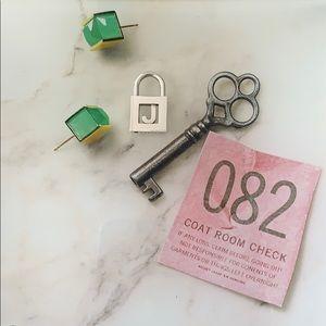 Tiffany & Co Letter J Lock Charm Sterling Silver